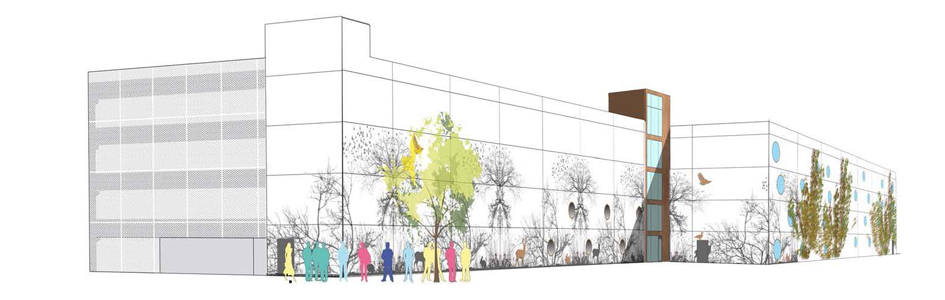 Bygger p-hus med fantasifull fasad