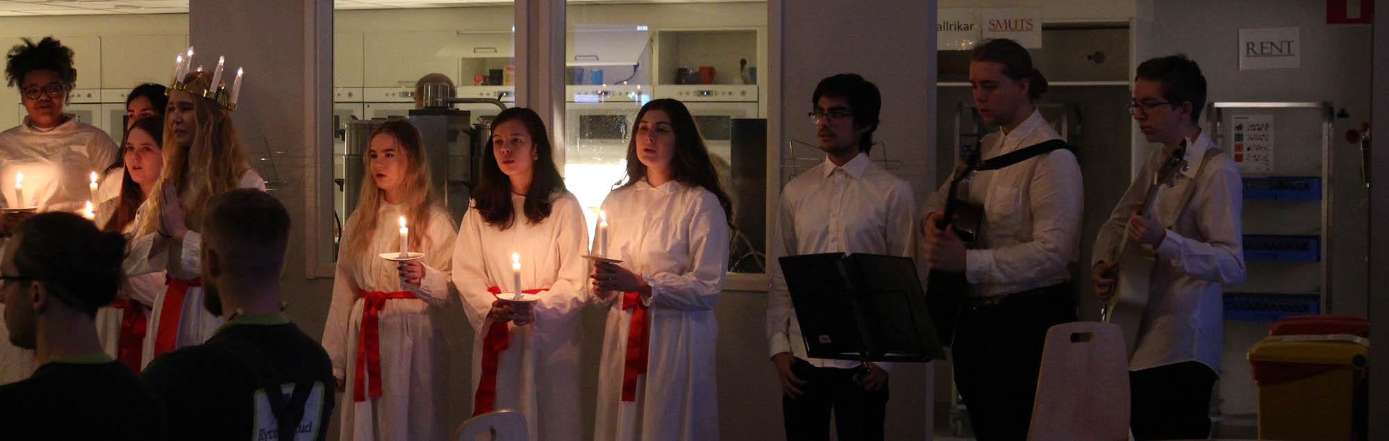 Trevligt Lucia-firande på Prefab i dag