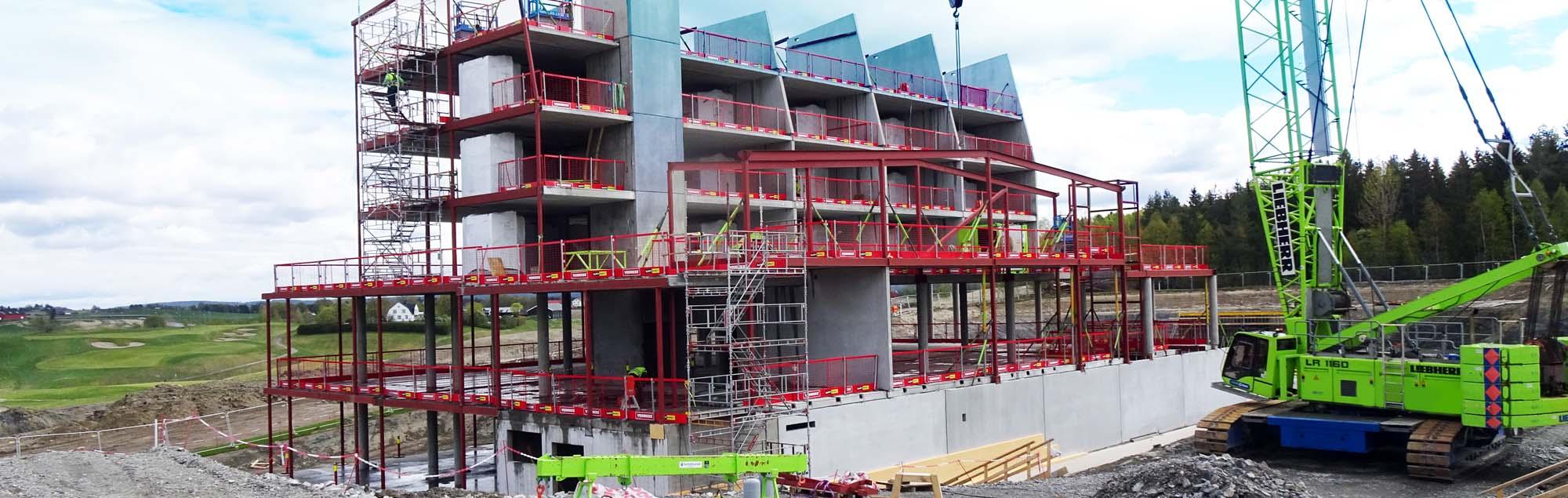 Levererar och monterar betong till Miklagard Hotell