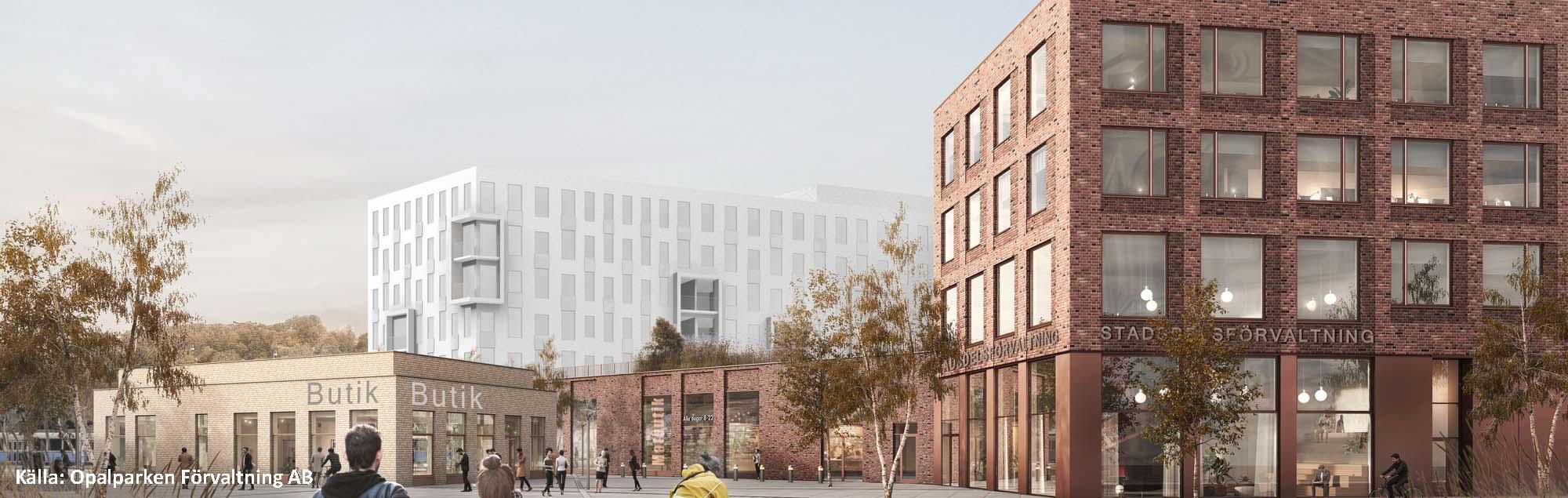 Bra miljöval till förnyelsen av Opaltorget - betongstomme från Prefab