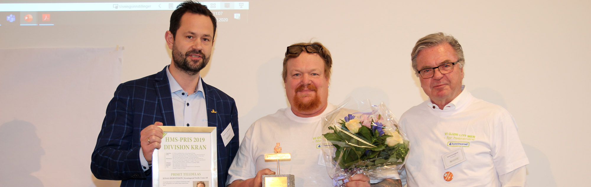 HMS-priset 2019 till Jonas Berntsson